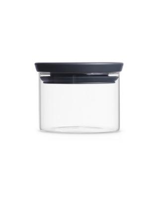 Stackable Glass Jar 0.3L - Dark Grey Lid