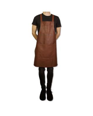 Suspender Apron Classic Leather - Classic Brown