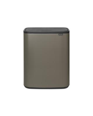 Bo Touch Bin 2 x 30 litre - Platinum