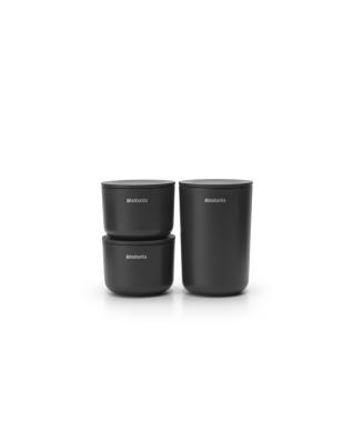 Storage Pots Set of 3 - Dark Grey