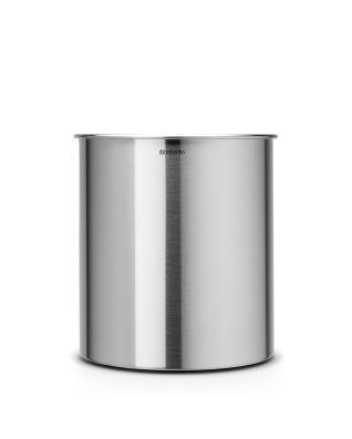 Waste Paper Bin 7 litre - Matt Steel