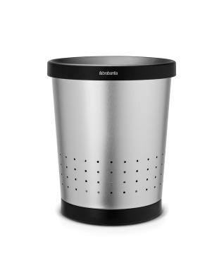 Waste Paper Bin Conical 11 litre - Matt Steel