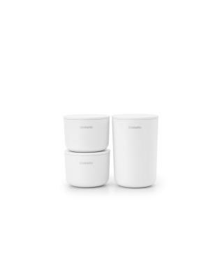 Storage Pots Set of 3 - White