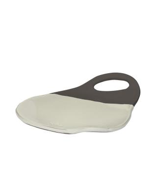 Organic Lola Board Plate Ceramic - White/Anthracite