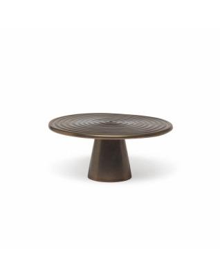 Food Stand Ceramic Medium - Platinum Matt
