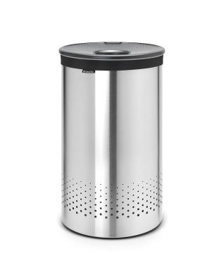 Laundry Bin 60 litre - Matt Steel / Grey Lid