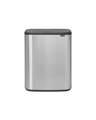 Bo Touch Bin 60 litre - Matt Steel Fingerprint Proof