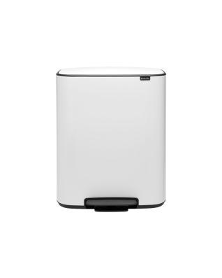 Bo Pedal Bin 60 litre - White
