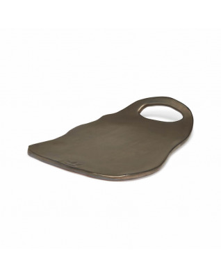 Organic Ted Board Plate Ceramic - Platinum Matt