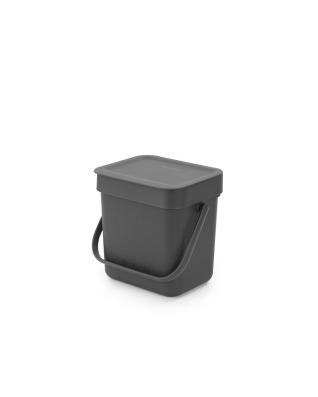 Sort & Go Waste Bin 3 litre - Grey