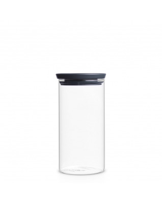 Stackable Glass Jar 1.1L - Dark Grey Lid