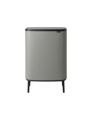 Bo Touch Bin Hi 60 litre - Mineral Concrete Grey