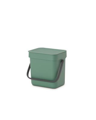 Sort & Go Waste Bin 3 litre - Fir Green